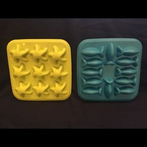 Two IKEA Candy Butter Water Molds Starfish Fish